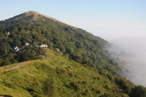 An image of the Worcestershire Beacon, the highest peak in the Malvern Hills
